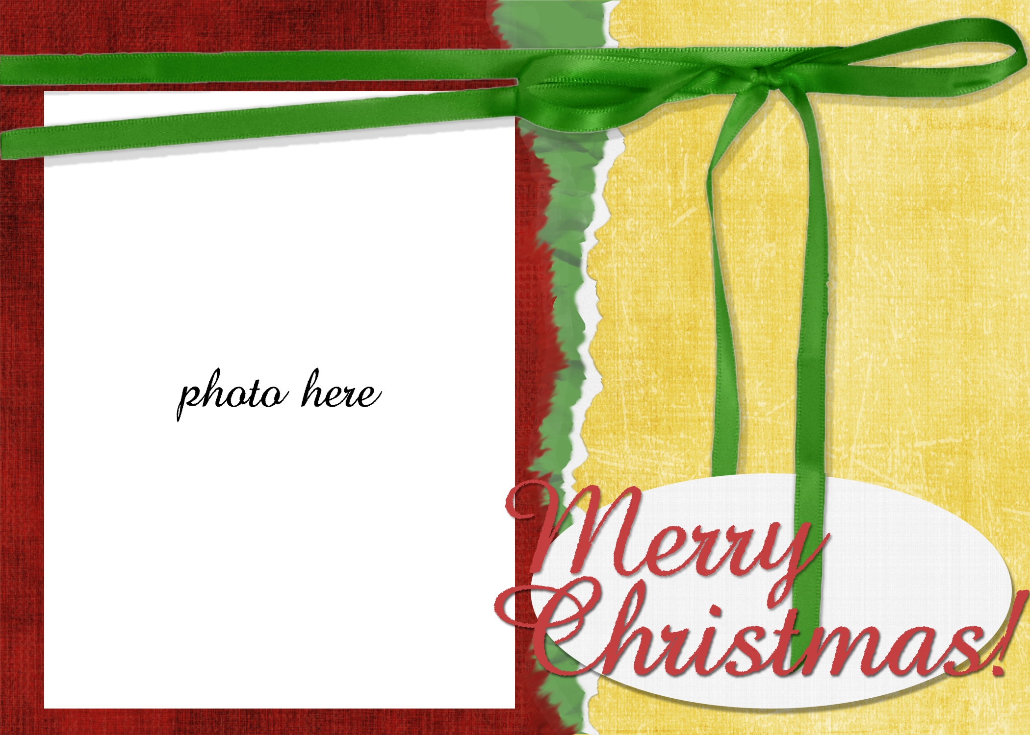 Christmas Card Postcard Template
