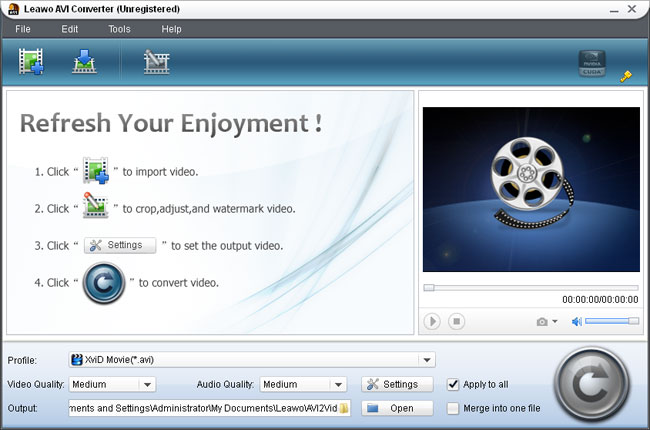 inport MP4 videos