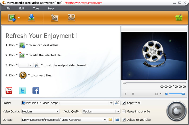 Moyeamedia Free Video Converter